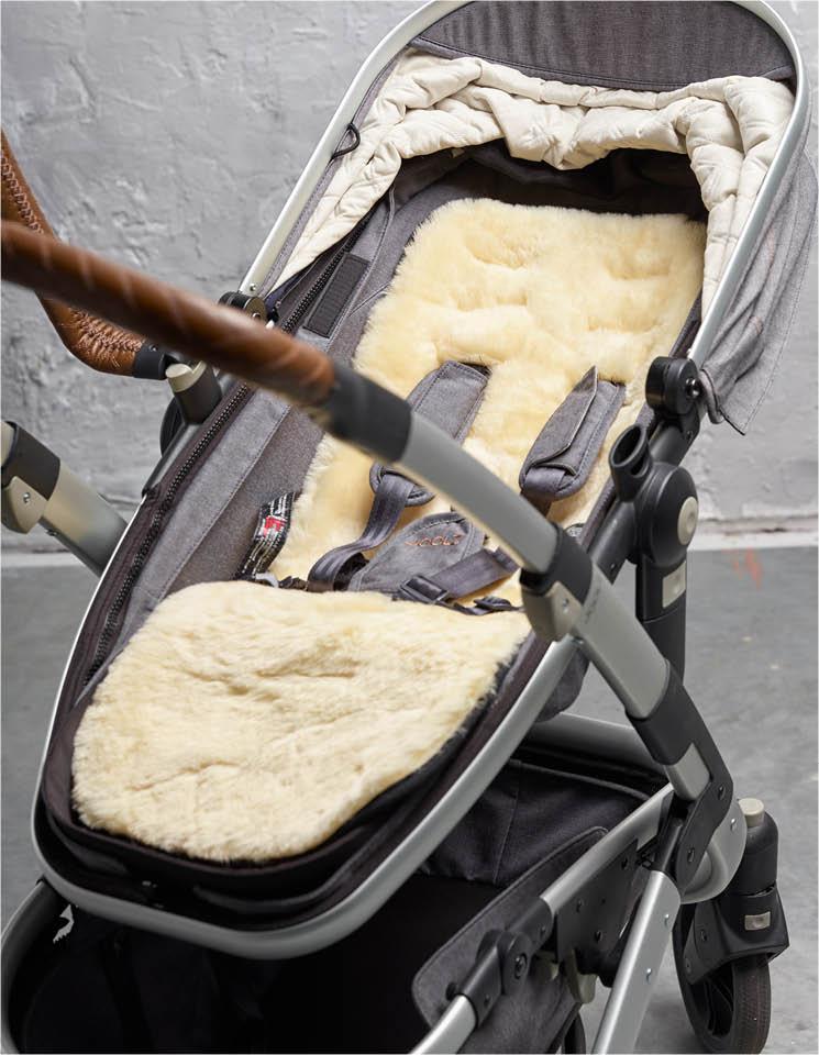 Natural 100/% Sheepskin Baby Buggy Liner Stroller Pushchair Pram Lamb Skin white